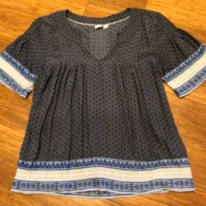 Gap embroidered trim peasant top